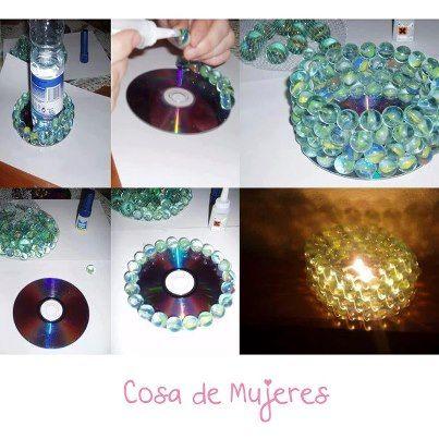 #diy #vela #candle #cd