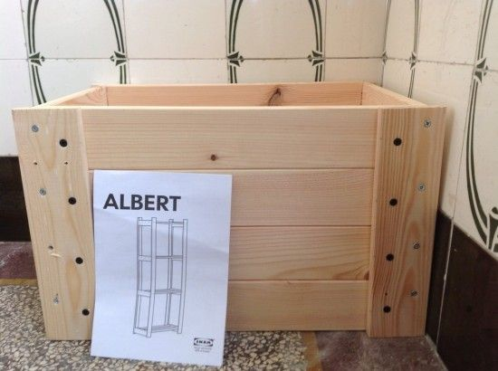 crated albert a diy crate ikea hacks ikea ikea. Black Bedroom Furniture Sets. Home Design Ideas
