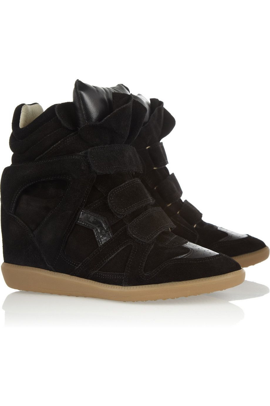 Isabel Marant|The Bekket leather and suede sneakers|NET-A-PORTER.COM