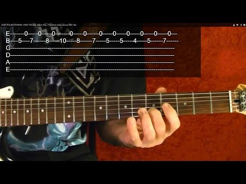 Guitar Lesson Rolling Stones Paint It Black With Printable