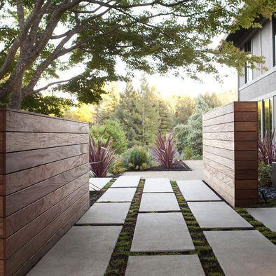 Dise o de jardines modernos paisajismo exteriores - Paisajismo jardines exteriores ...