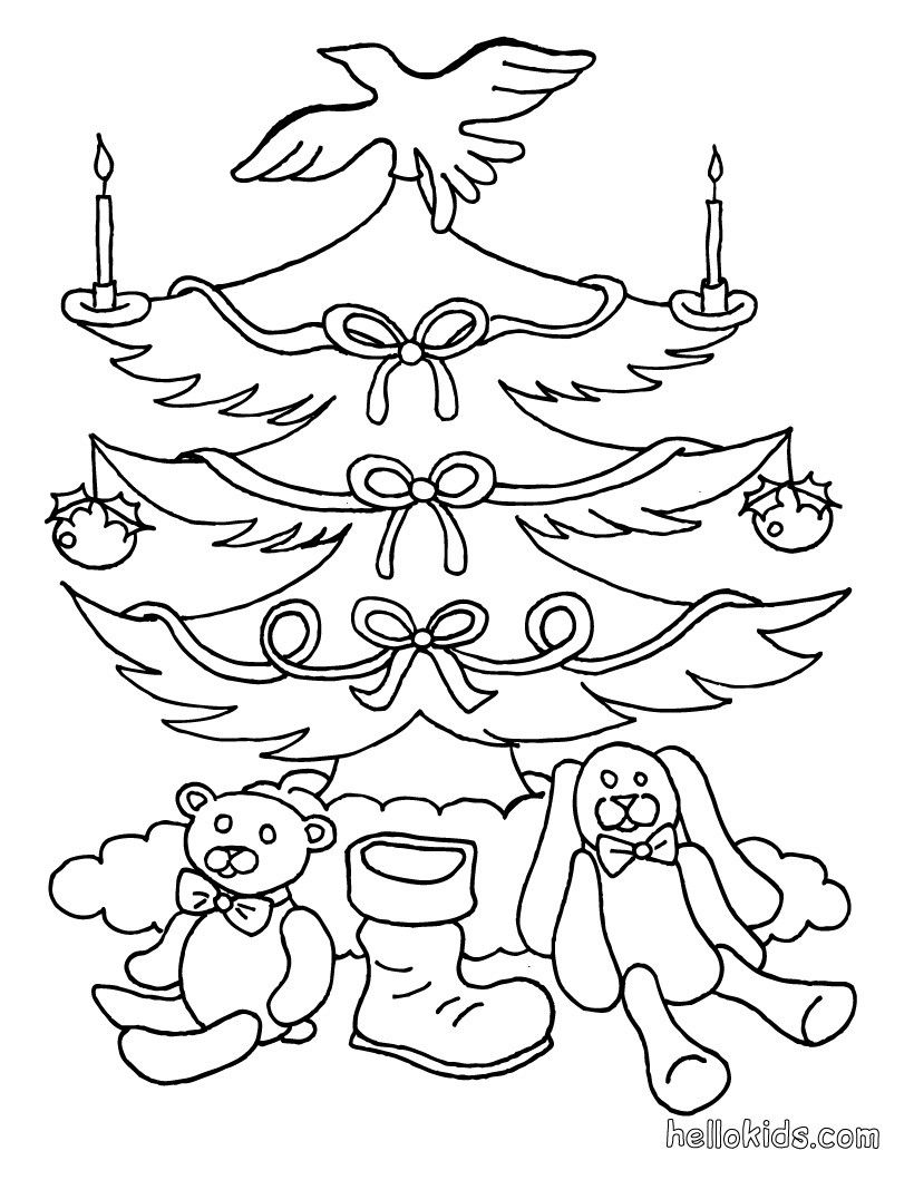 CHRISTMAS TREE coloring pages Christmas tree and
