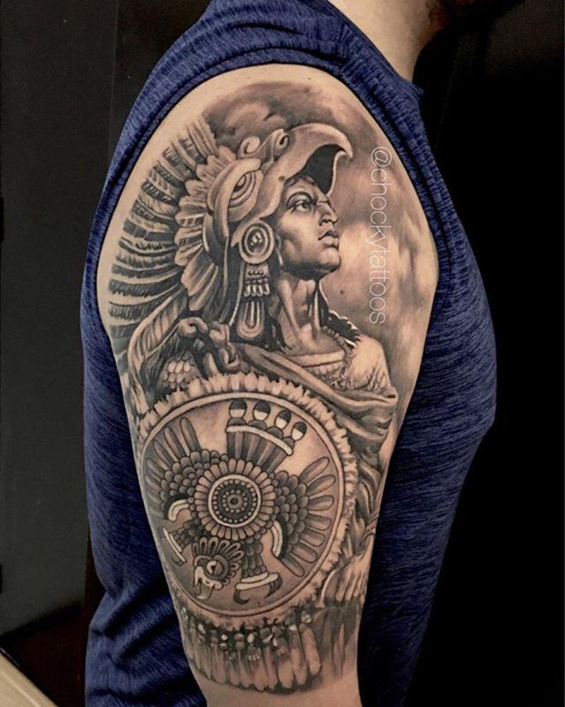 Caballero Aguila Aztec N Mayas Tatuaje Azteca Tatuajes De