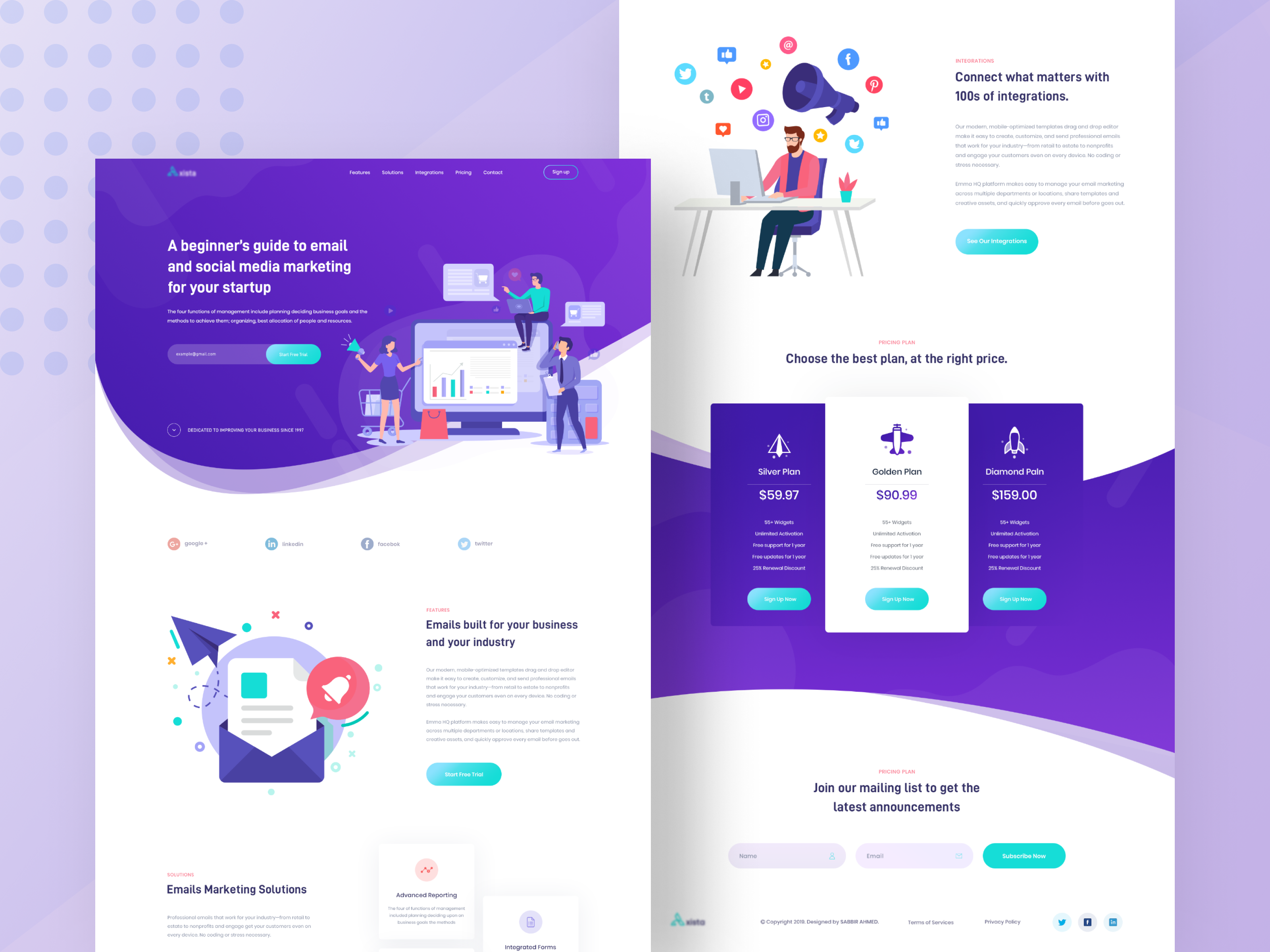 Email Marketing Landing Page In 2020 Landing Page Web Design Banking App