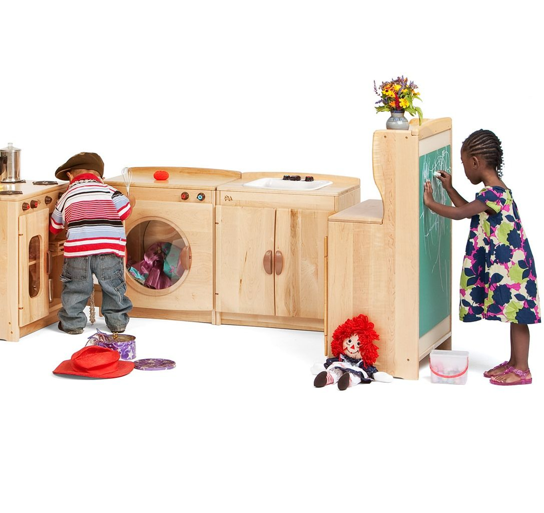 preschool play kitchen woodcrest kitchen set from community playthings 897