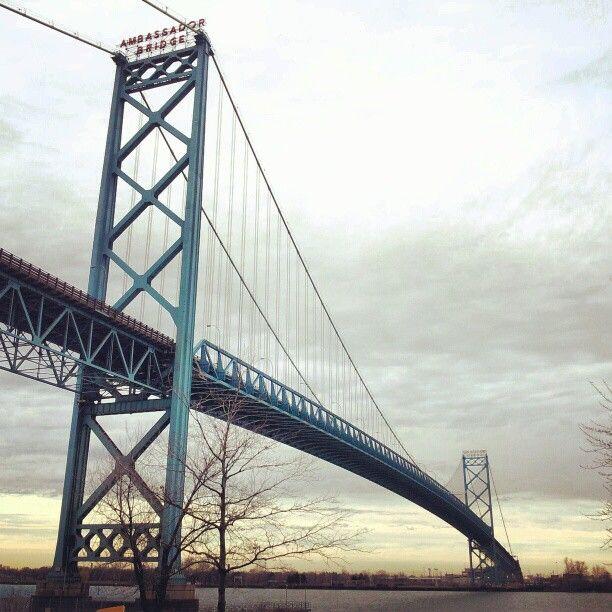 Ambassador Bridge in Detroit, MI
