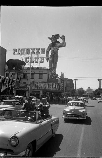 A Las Vegas street scene, 1952.