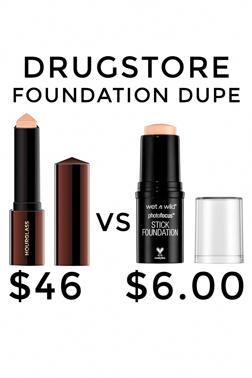 Hourglass Foundation Stick Dupe Only 6 Foundation