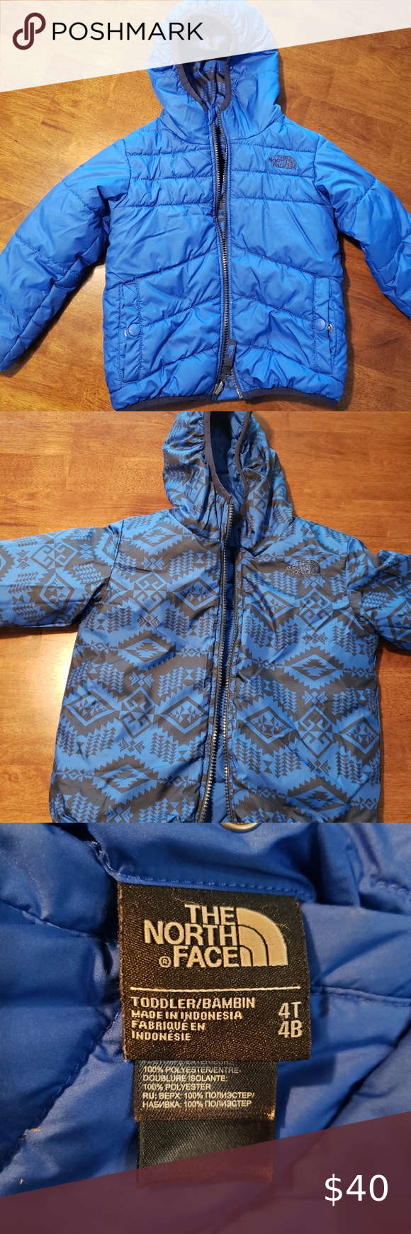 4t Reversible Northface Perrito Winter Jac The North Face North Face Jacket Clothes Design [ 1740 x 580 Pixel ]