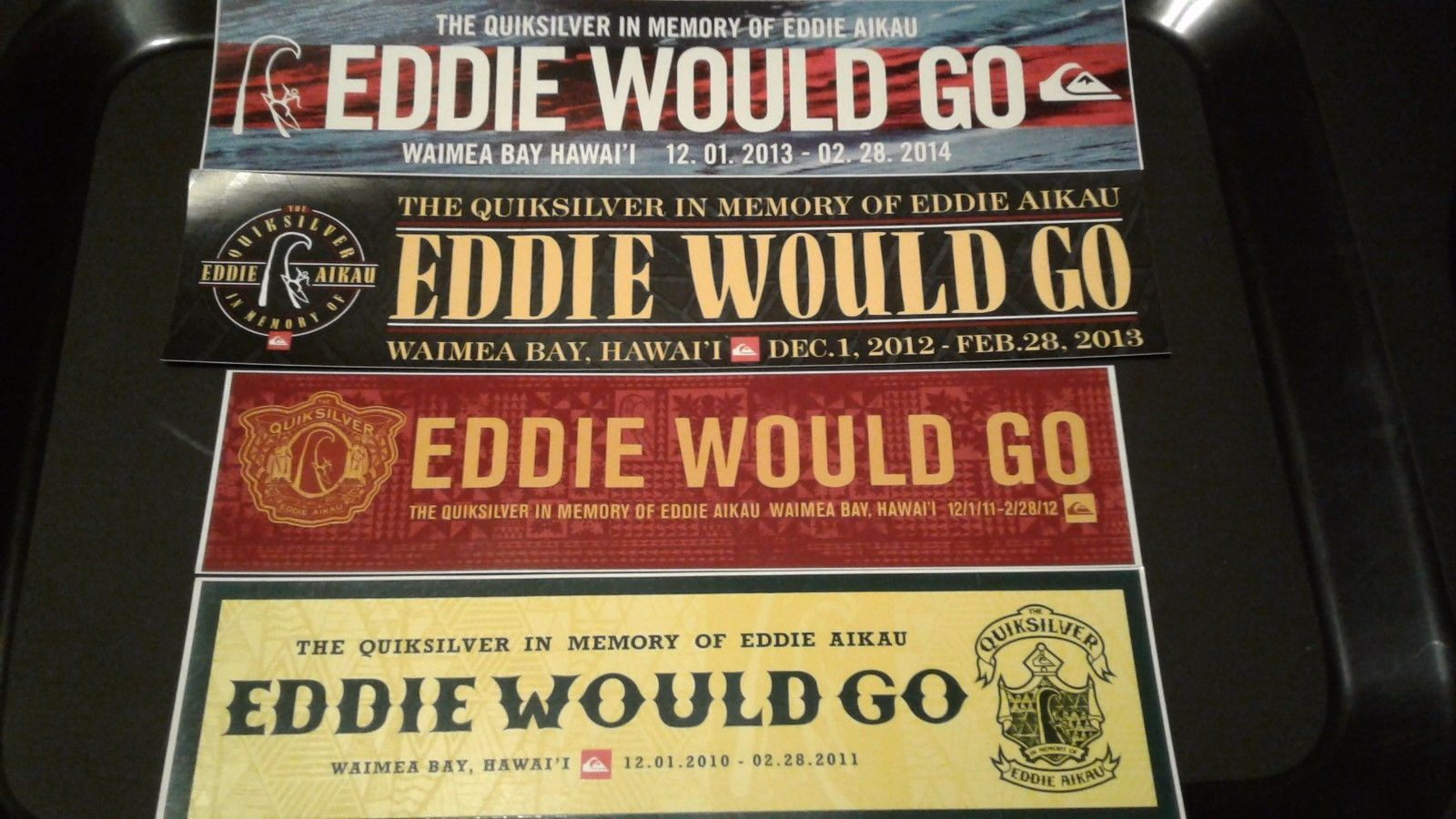 Decals Patches and Stickers 22711: Eddie Would Go Bumper Stickers -> BUY IT NOW ONLY: $30 on eBay!