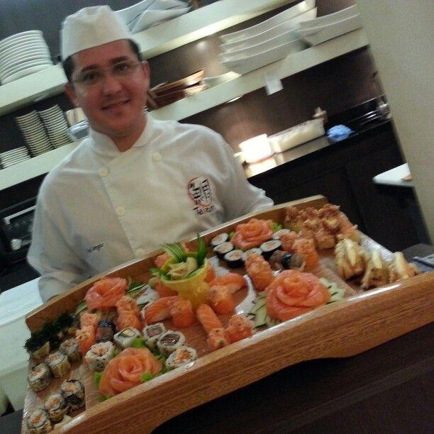 O chef Sérgio, sempre inovando para melhor servir você!