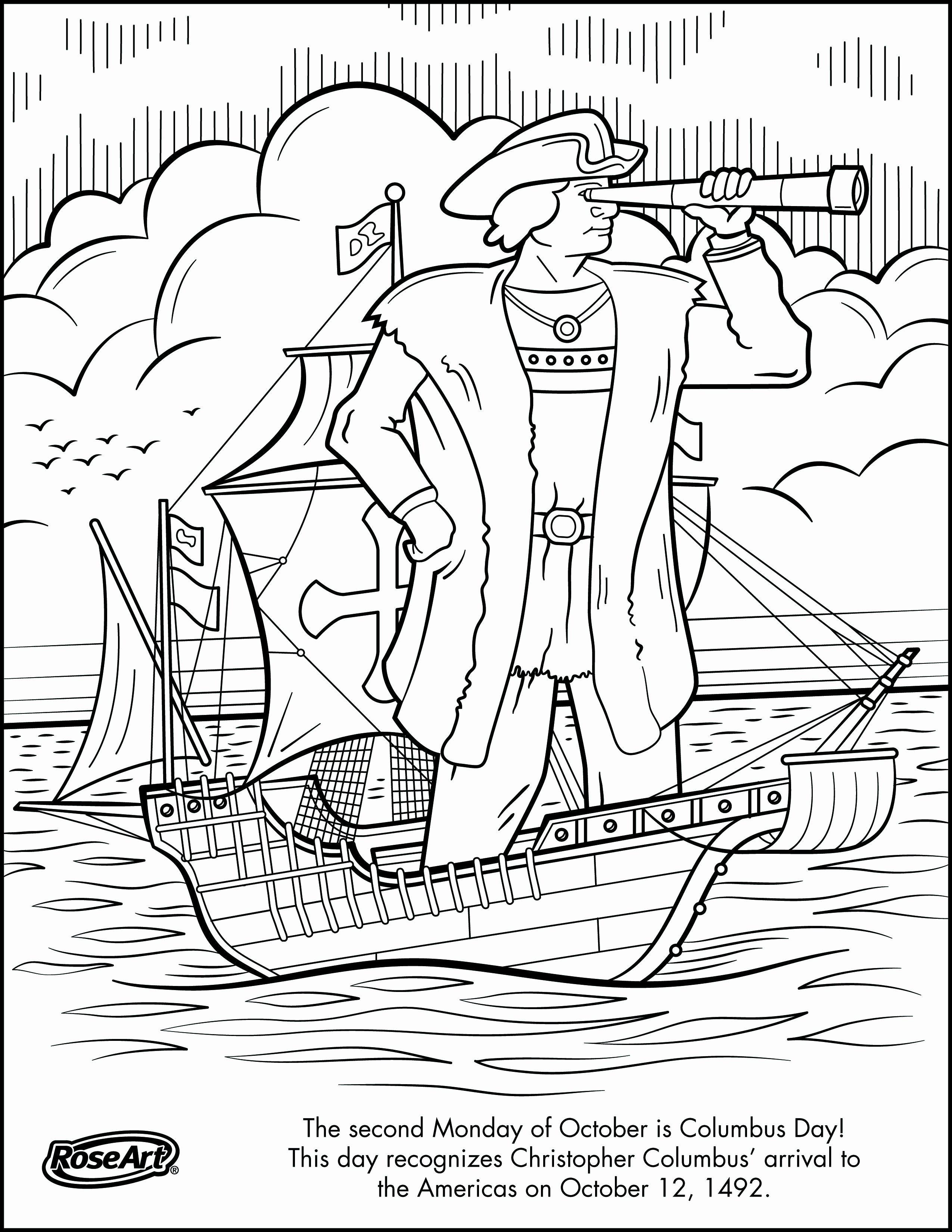 28 Christopher Columbus Coloring Page Di 2020 Rosh Hashanah