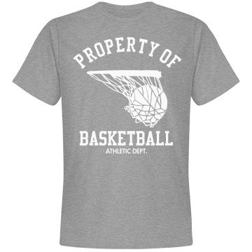 Property of basketball athletic dept.
