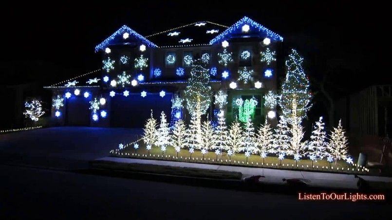 Decorating Interior Modern Homes Christmas Lights For House ...