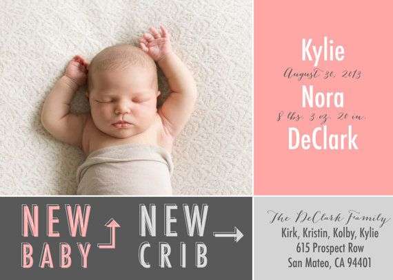 announce new baby new crib new baby announcement and moving