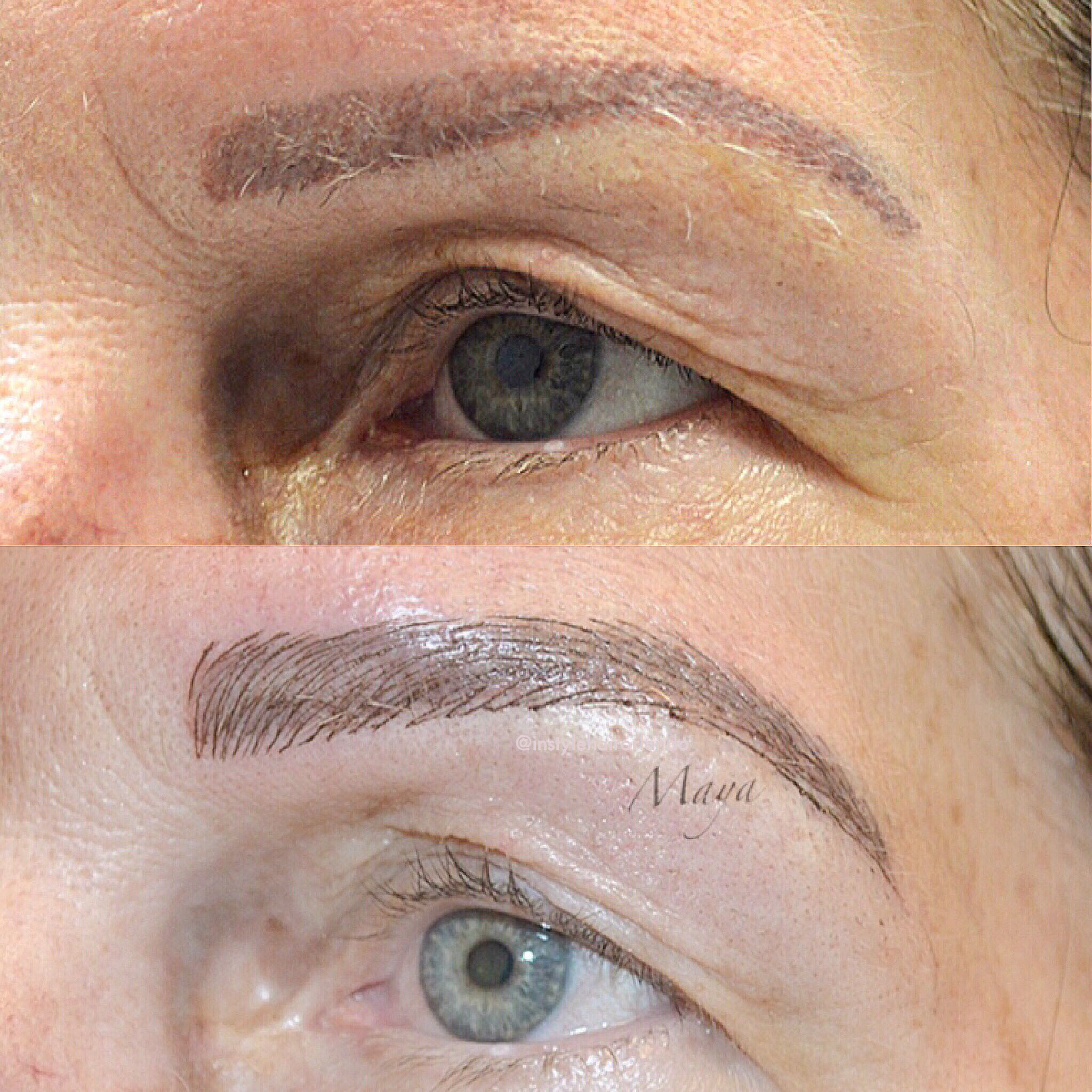 Microblading By Maya At In Style Waterford Lakes Orlando Fl Follow Us On Instagram Instylehairorlando Instylehai Brow Tinting Brow Shaping Eyelash Tinting