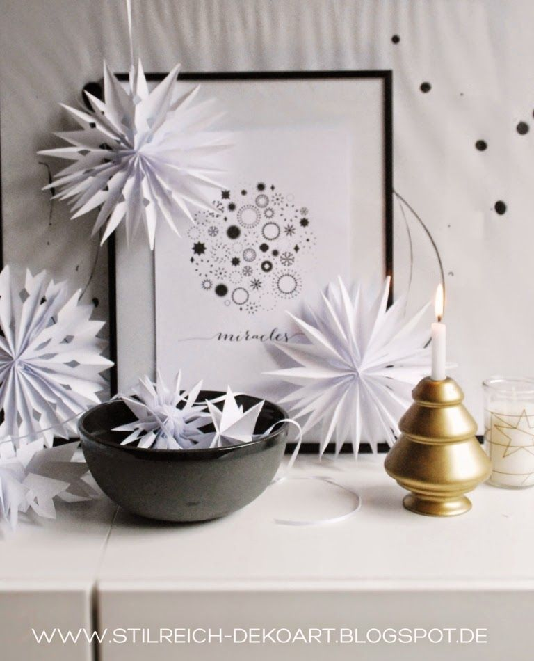 EASY DIY White Paperstars ♥ Easy, Decoration and Blog - wohnideen und lifestyle