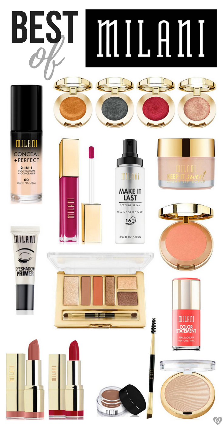 Milani Cosmetics Is An Amazing Drugstore Brand That Rivals Some Of The Best High End Ones I Ve Made A List Of Milani Makeup Drugstore Makeup Milani Cosmetics