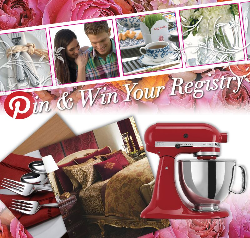 Pin And Win Your Wedding Registry in Dillard's Pinterest Contest!