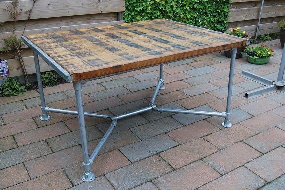 Onderstel tafel buiten zelf maken meubels buiten