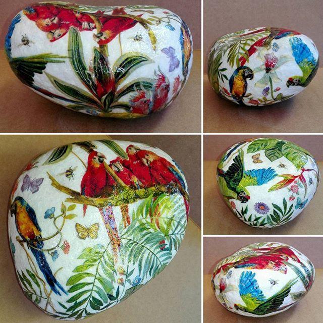 Piedra cuarzo/decoupage servilleta #manualidades #hechoamano #piedra…