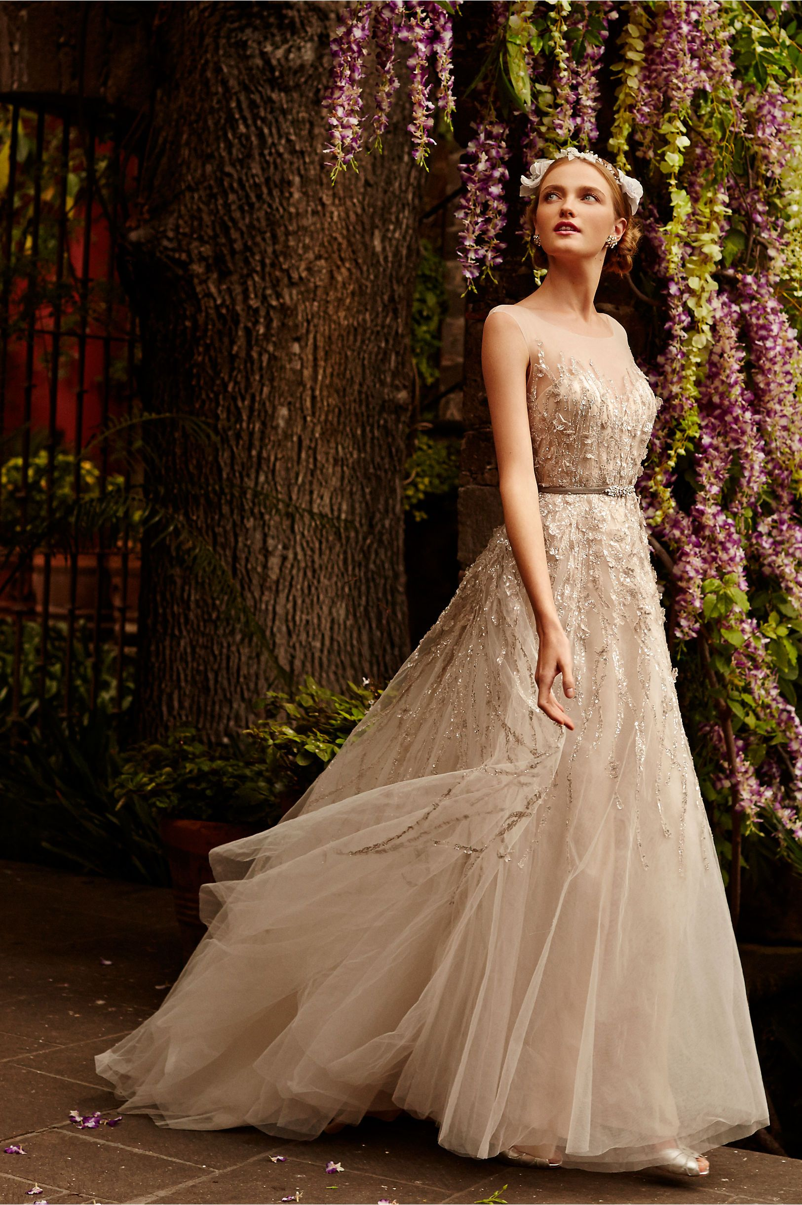 Fall outdoor wedding dresses  Wisteria Gown from BHLDN  wedding  Pinterest  Wisteria Gowns
