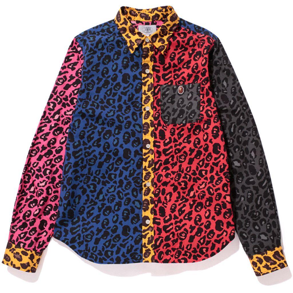 21500836cc4f LEOPARD CRAZY SHIRT | us.bape.com | Men's Style | Shirts, Pant shirt ...