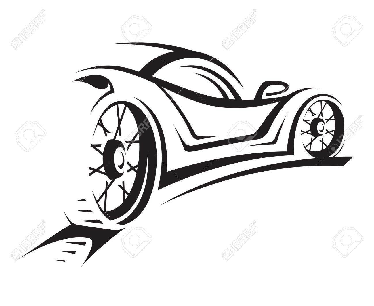 Race Car Silhouette Clipart