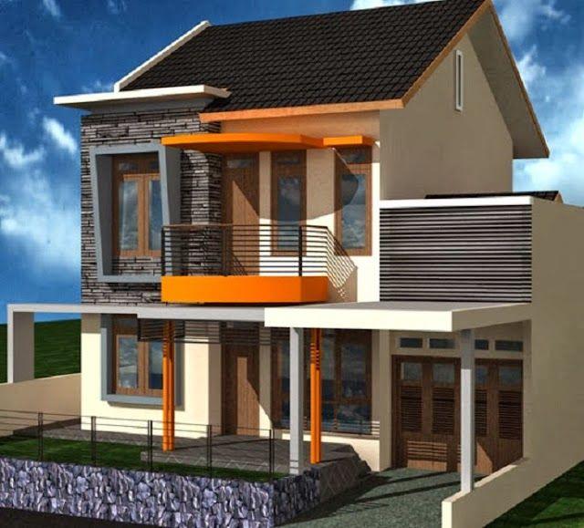 Denah Desain Rumah 2 Lantai Sederhana Terbaru 2014