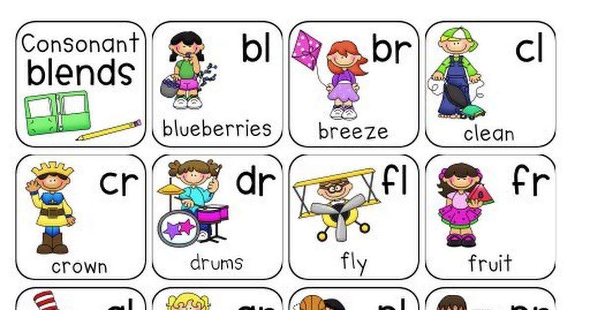 Consonant Blends Chart.pdf Consonant blends, Consonant
