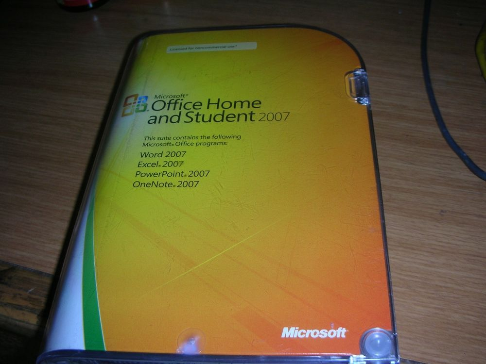 Microsoft Office 2007 Home and Student w/ Product Key Word Excel