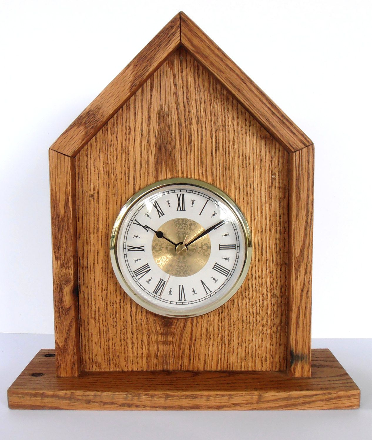 Rustic Pallet Wood Mantel Clock by WileWood on Etsy