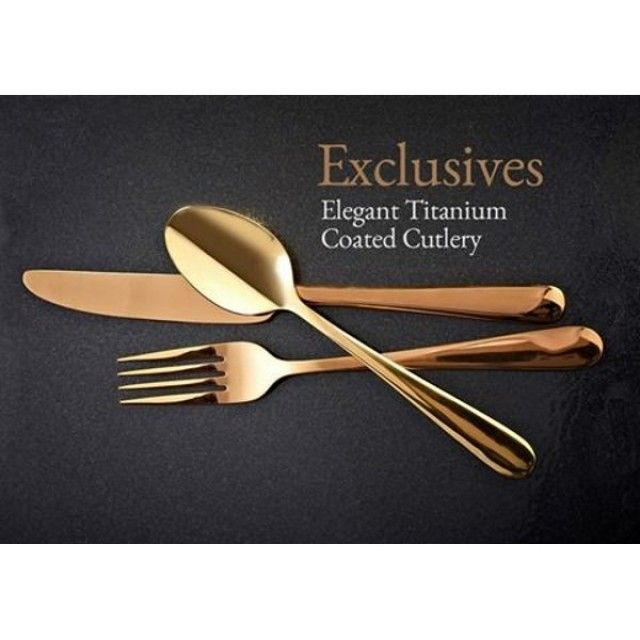 Viners Exclusive 16 Piece Titanium Plated Cutlery Set in Copper/Rose Gold  sc 1 st  Pinterest & Viners Exclusive 16 Piece Titanium Plated Cutlery Set in Copper/Rose ...