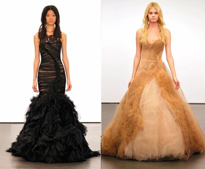 Vera Wang Black Wedding Dresses for Sale