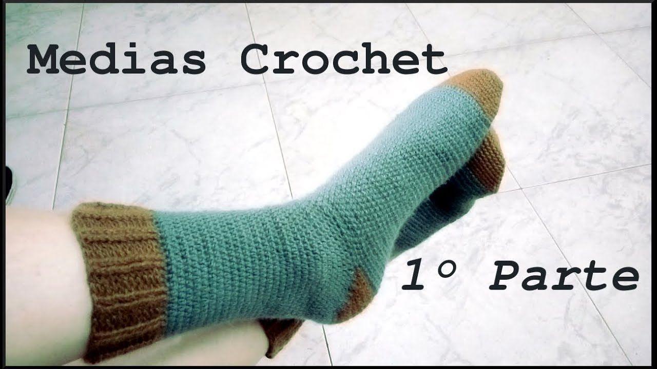 MEDIAS #calcetines o zoquetes en tejido crochet o ganchillo. Moda a ...