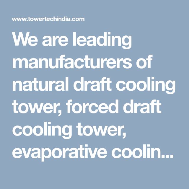 Natural Draft Cooling Tower Evaporative Cooling Tower Cooling Tower Tower Led Manufacturers