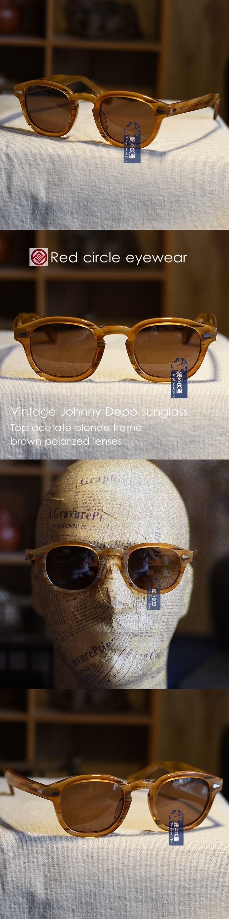 093cbae7c8 Sunglasses 48559  46Mm Vintage Polarized Sunglasses Johnny Depp Eyeglasses  Mens Blonde Brown Lens -  BUY IT NOW ONLY   56.99 on eBay!