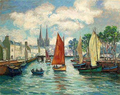 Maurice Neveu Quimper Misainier Sur L Odet Comment Peindre