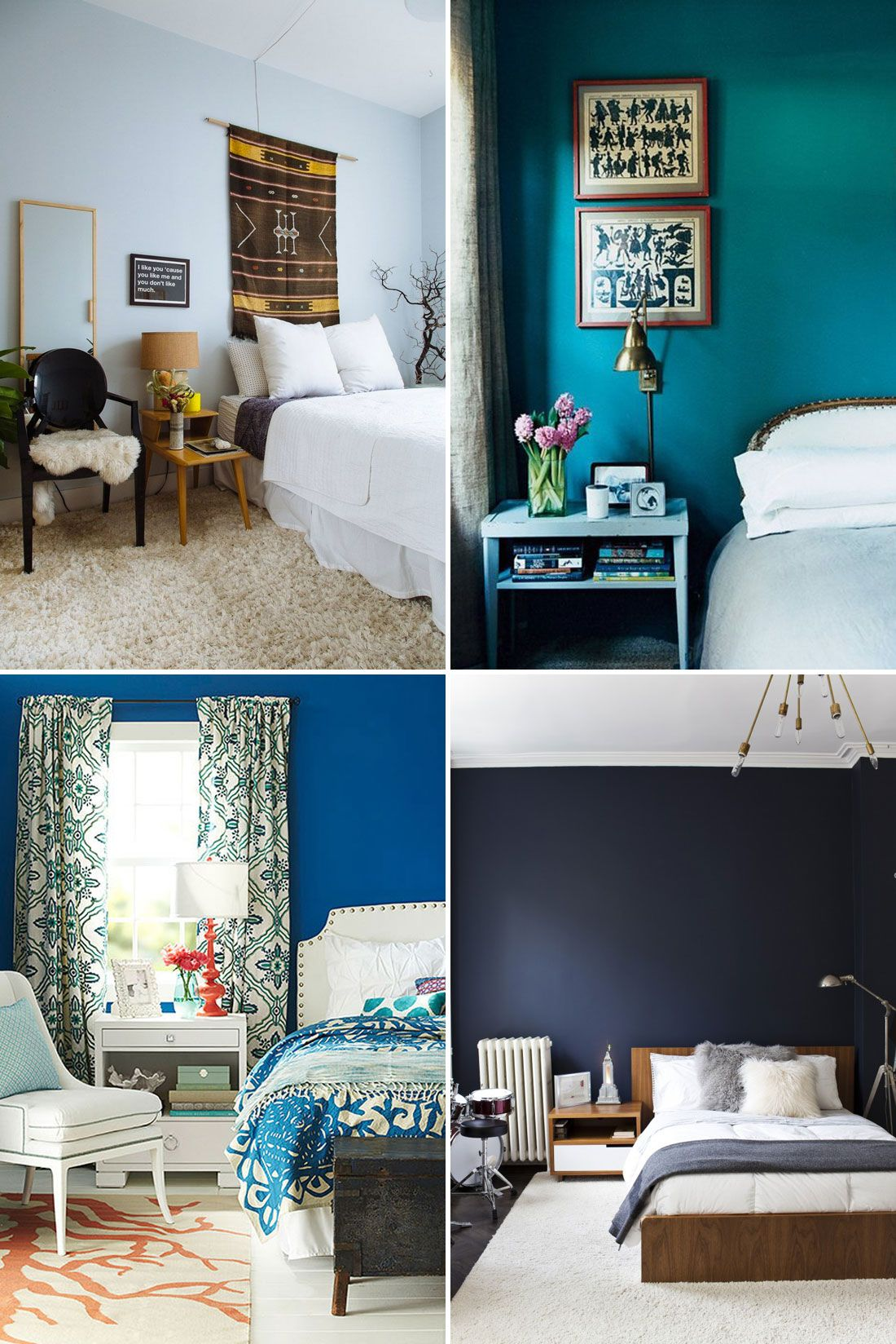 Add A Relaxing Shade Of Blue To Your Bedroom Walls.