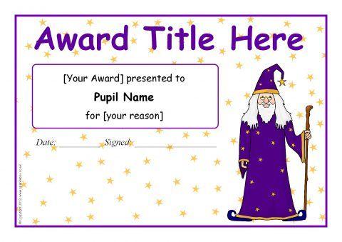 Certificate Templates Microsoft Word Editable Wizardthemed Certificate Templates Sb9598  Sparklebox .