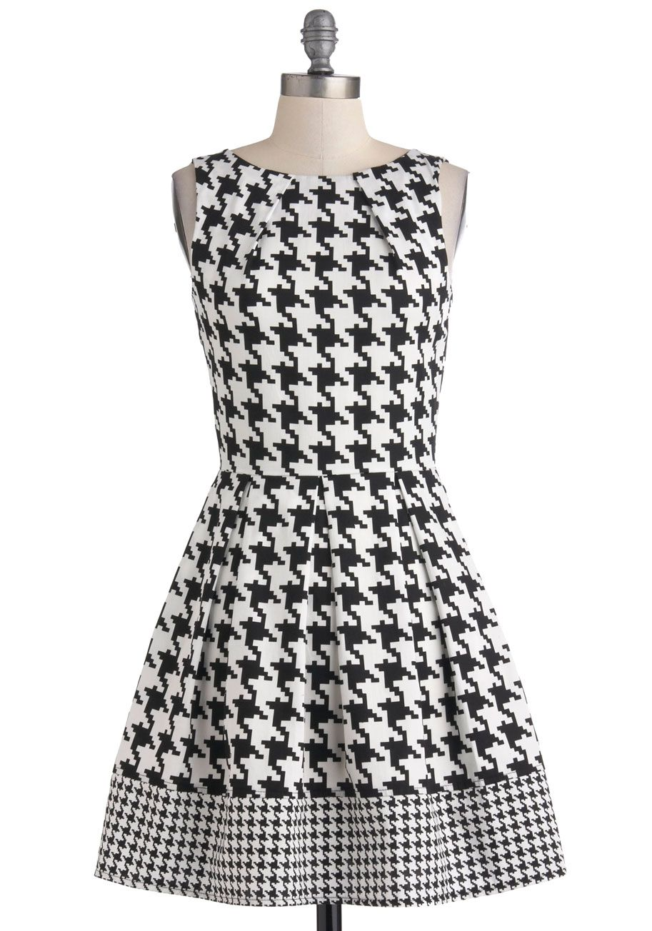 03ed98a8cac About Your Outfit A-Line Dress | style | Houndstooth dress, Dresses ...