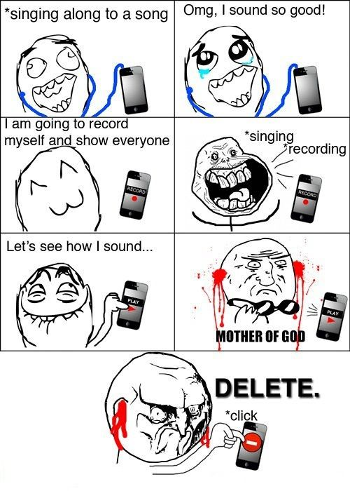 Me being a singer ...