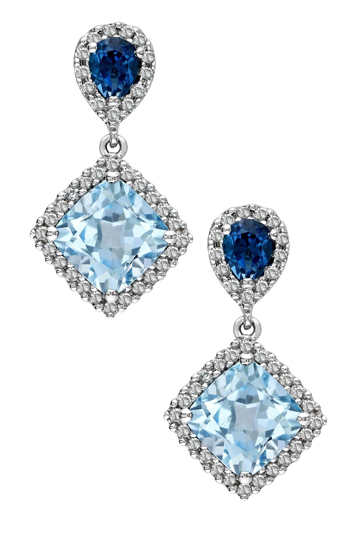 rose with earrings r blue natural shape htm french topaz clips clip earring pear solid carat gold p