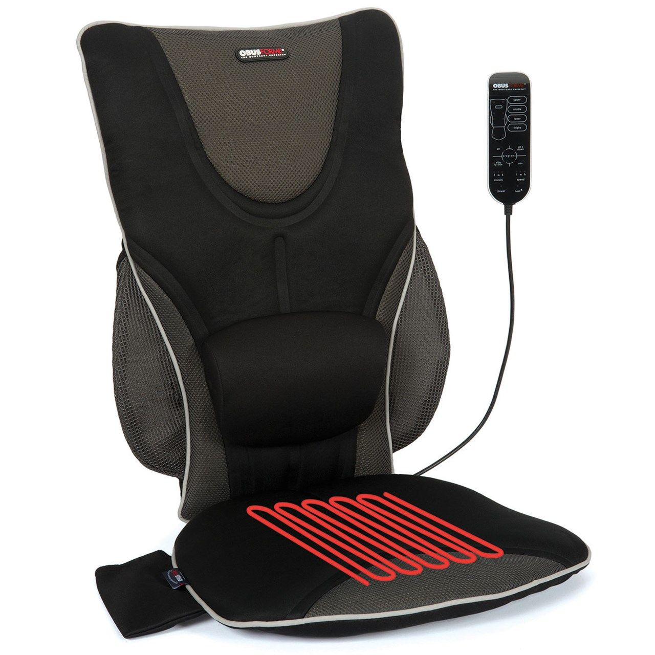 Back support drivers seat cushion with lumbar pad heat