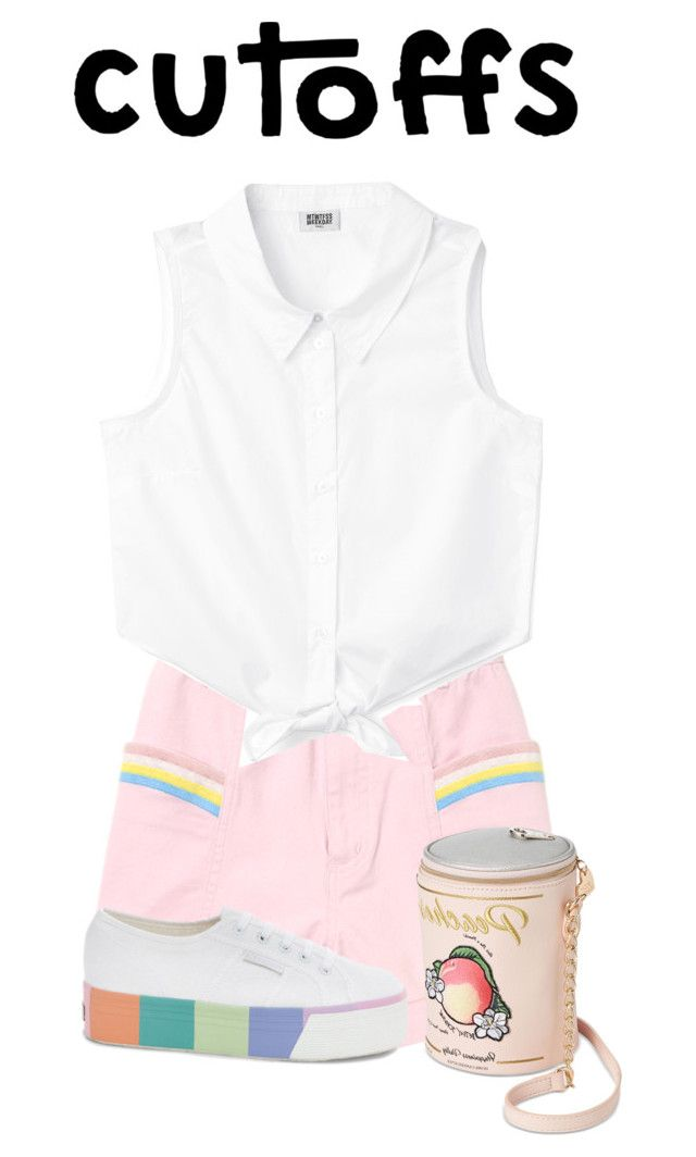 """""""cutoff"""" by faye-valentine ❤ liked on Polyvore featuring Superga and Betsey Johnson"""