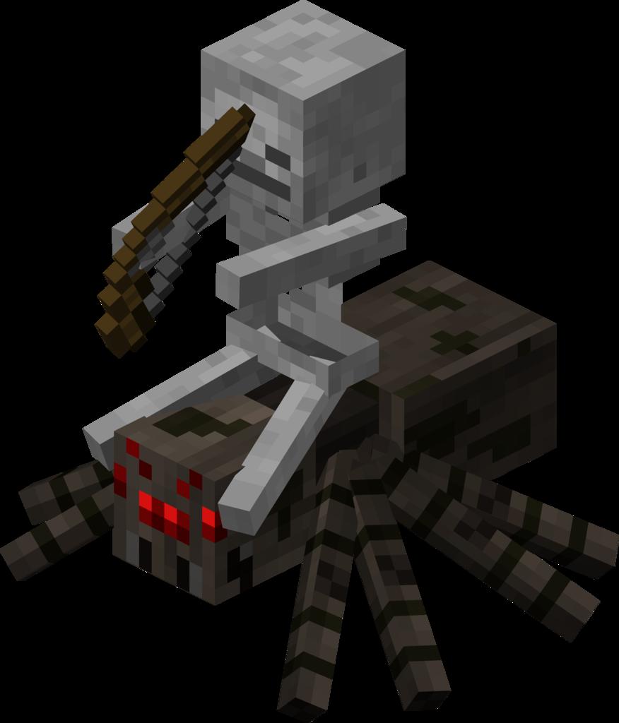 minecraft skeleton jockey  Minecraft skeleton, Minecraft