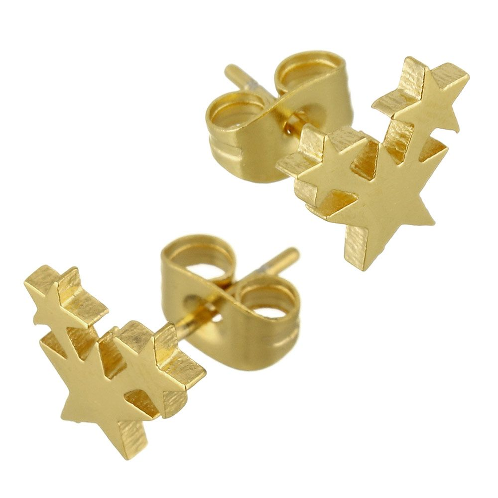 YYW Factory Price Gold-color Stainless Steel Stud Earrings ...