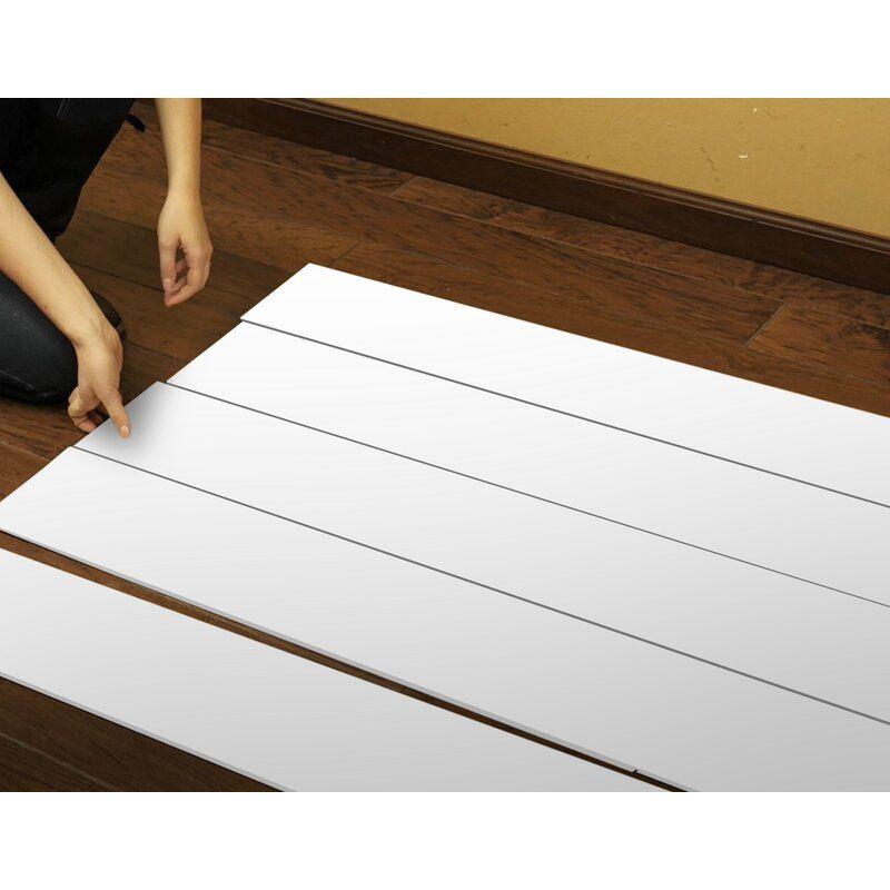 True Shiplap 7 44 X 46 5 Peel And Stick Vinyl Wall Paneling In 2020 Vinyl Wall Panels Shiplap Wall Diy Peel And Stick Vinyl