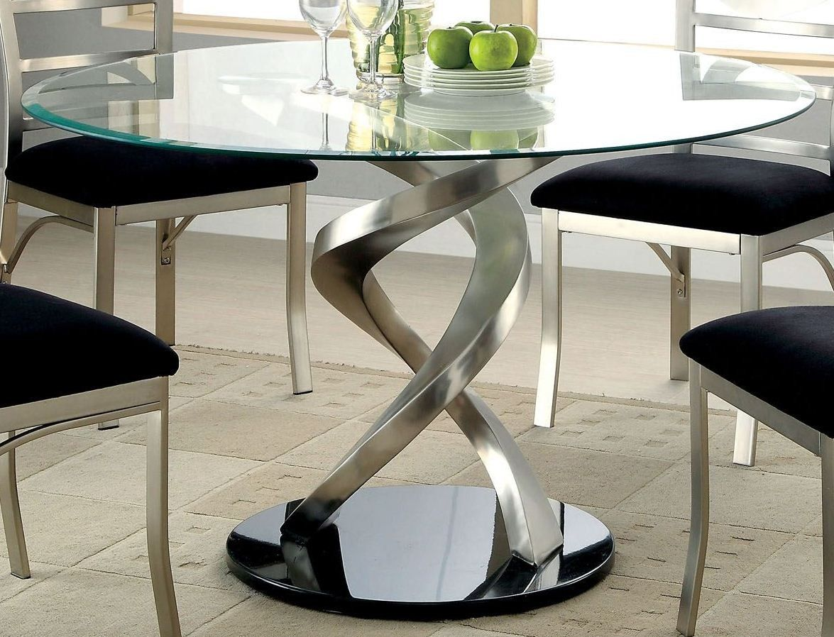 Roxo Round Pedestal Dining Table Glass Round Dining Table Modern Glass Dining Table Glass Dining Room Table