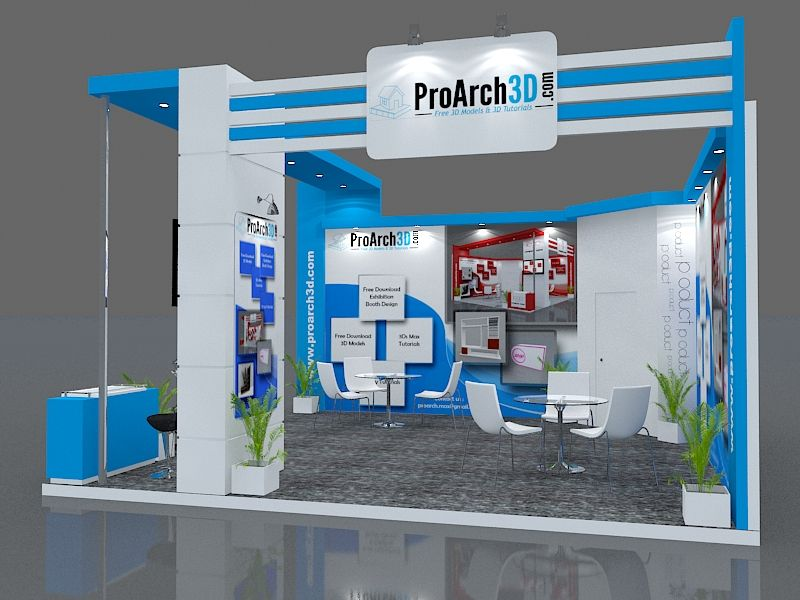 Exhibition Stand 3d Max Download : Exhibition stand ds max model mtr side